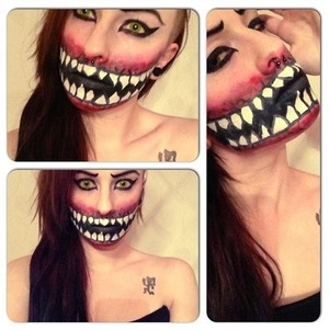 I thought of mileena from mortal kombat :)