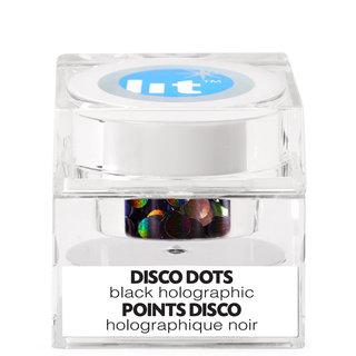Holographic Glitter Pigment Disco Dots Black S3