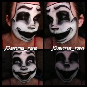 my attempt to do the Comedy Mask by Melissa Bernard
