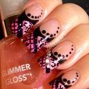 Pink & Black Fishnets