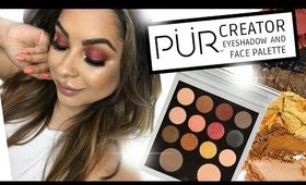 PUR CREATOR EYESHADOW AND FACE PALETTE REVIEW & TUTORIAL
