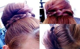 Messy Bun with a Braided Twist [Hair Tutorial]