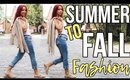 FALL FASHION CLOTHING HACKS | How To Style Transition Outfits