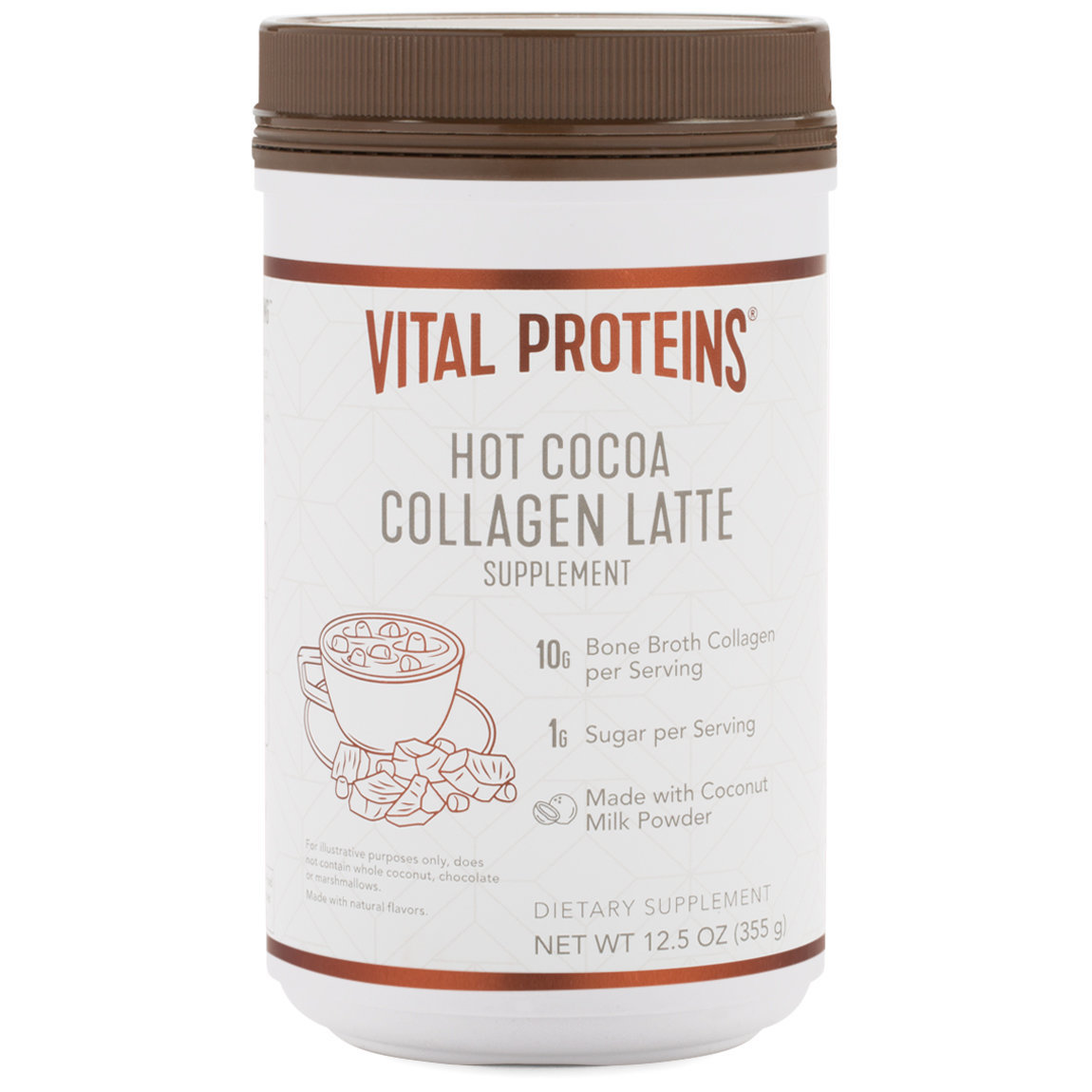 Vital Proteins Collagen Latte - Hot Cocoa alternative view 1 - product swatch.