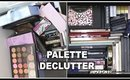 DECLUTTERING OVER 70 FACE & EYESHADOW PALETTES!