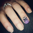 Elligant nail design. Super easy to do!!