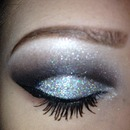 NYE black&silver sparkle cut crease