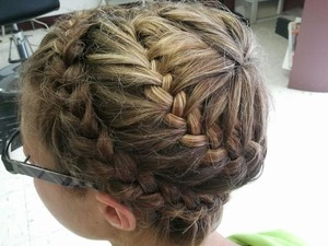 This braid was done by a nail technician where I live.