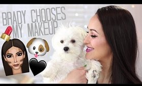 makeup challenge: my dog chooses my makeup