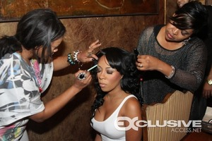 Getting KMichelle from VH1's Love & Hip Hop Atl ready for a performance...