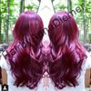 My red and purple hair