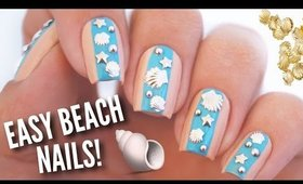 Easy Summer Beach Nail Art | DIY Nail Design Using Studs!