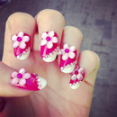 ♡ Superpink Barbie Nails ♡