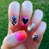 Girly glitter & leopard print nails!! :)