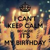 todays my birthdsy im so exited