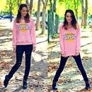 Barbie Printed Pink Pullover