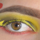 Pokemon Pikachu inspired eye makeup