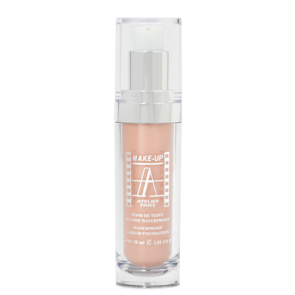 Make-Up Atelier Fluid Foundation Apricot FLW1A Apricot Clear