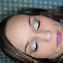 Silver with lavender lips