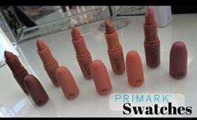 PRIMARK Matte Lipsticks SWATCHES | Danielle Scott