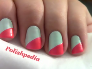 This design is so simple but bound to get you the right attention!  Watch The Video Tutorial @ http://www.polishpedia.com/diagonal-french-tip-nails.html