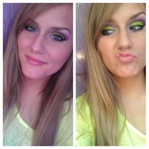 One was taken with front phone camera and the other was with the back camera, hence the 2 different colors.