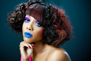 Custom wig made using human hair.  Cut, colored and then styled by Tanya J.  Make-up by Tanya J.