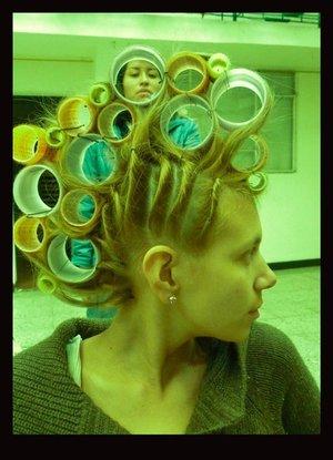 Mowhawks! Make Up and Hair Rehearsal for a photoshoot Hair: Nadia Kosh Ph: Camilo Gil