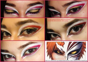 SO! I definitely intended for this to be another NINJA LOOK! (9>,<)/' but somehow-some WAY, i ended up with this look, which looks very similar to ichigo's hollow form in the manga/anime 'Bleach' - this is why i've now decided to call it a 'hollow look'
