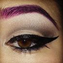 purple eyebrows