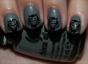 See more swatches here: http://www.swatchandlearn.com/nail-art-owl-nails/