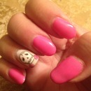 Simple pink skull and roses