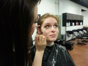 during my makeup competition