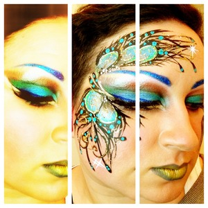 Cirque du Soleil inspired - Amaluna show here in Vancouver. I had the honour of working for Cirque last weekend as a face and body painter for their special event