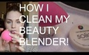 How to Clean the Beauty Blender with the Solid Beauty Blender Cleanser