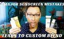 4 Major Sunscreen Mistakes Part 2- How to Custom Blend Tinted Moisturizers - mathias4makeup