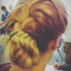 French braid > Fish Tail > Loop