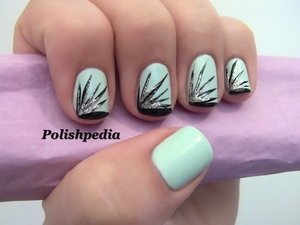 After seeing so many firework shows and loving them I decided on this design!  Watch My Video Tutorial @ http://www.polishpedia.com/firework-french-manicure.html