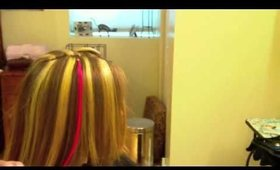 How to Apply a Pink Human Hair Extension: Beaded Strand by Strand Method