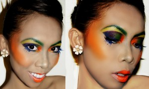 Spring Runaway inspired makeup