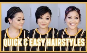 Quick & Easy Hairstyles For Short Hair // Utilize Hair Accessories