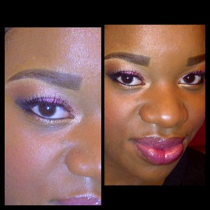 Cranberry Eye Shadow mix with some golds dark liner and lashes !