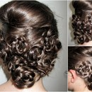 Bridesmaid Flower Updo
