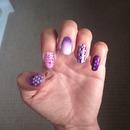 Purple nails art!!