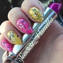 My Last Bright Neon Nails! Stiletto nails