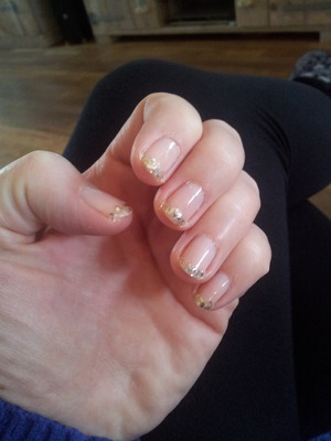 French with golden glitter