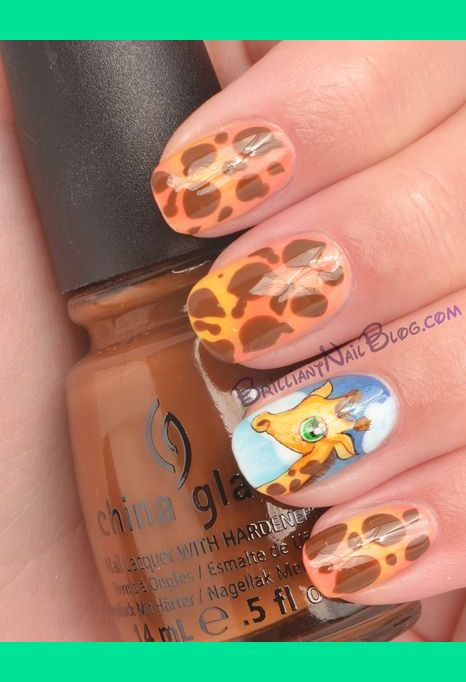 Giraffe Nail Art Brilliantnail Fs Photo Beautylish