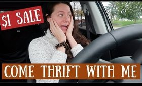 COME THRIFT WITH ME $1 SALE & TRY ON!