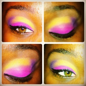 Pink, Purple and Yellow from BH Cosmetics