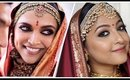 DEEPIKA PADUKONE Konkani BRIDAL Makeup Look | It's SUPER EASY!!😄 | Stacey Castanha
